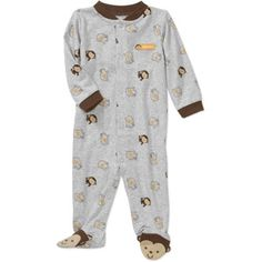 2f5c8bb21 Child of Mine by Carter's - Child of Mine by Carters Newborn Boys' Monkey  Print Sleep n Play Jumpsuit - Walmart.com