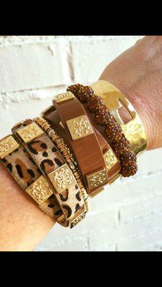 Rustic cuff - brown