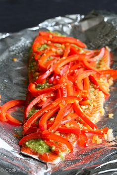 Grilled Pesto Salmon in Foil