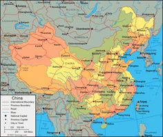 I lived & worked in China, so it is a place of significant memories made.: china map   China Map - China Satellite Image - Physical - Political