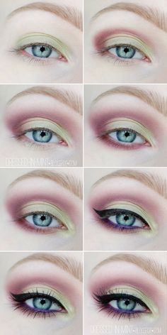 Make up. - PISTACJE z fioletem / step by step