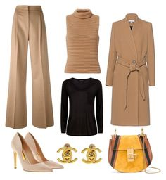"""""""Cold day out"""" by pandoracorreia on Polyvore featuring Chloé, MaxMara, Exclusive for Intermix, Jaeger, Rupert Sanderson, IRO and Chanel"""