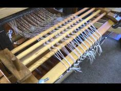 ▶ Front to Back Warp Beaming with a Tension Device On a Floor Loom - YouTube