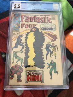 FANTASTIC FOUR #67 CGC 5.5 1ST (HIM) ADAM WARLOCK & ORIGIN Marvel Comics oct 67 Marvel Universe Characters, Adam Warlock, Comic Books For Sale, Fantastic Four, Silver Age, Marvel Comics, The Originals