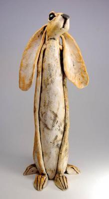 Ceramic animal sculpture by JJ Vincent