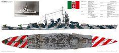 "Littorio Italian Battleship renamed ""italia"" after the armistice of 8 september 1943."