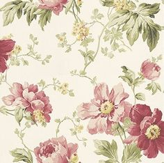 Peony Garden Cranberry wallpaper by Laura Ashley