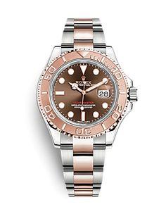 Rolex Yacht-Master 40 126621 Chocolate Second Hand Rolex, Gold Watch, Rolex Watches, Chocolate, Accessories, Clocks, Chocolates, Brown, Jewelry Accessories