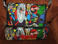 Marvel Superhero Messenger Diaper Bag on Etsy