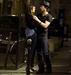 Ooh la la! Nina Dobrev and Ian Somerhalder spent a romantic evening in Paris 5-25-12