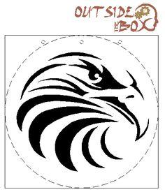 Printable Leathercraft Patterns   Bald Eagle scroll saw pattern