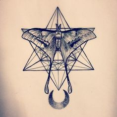 Image result for moth geometric tattoo