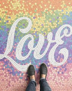 a #fantastic #mosaique by @nickmisani reminds us that #love is everywhere #handmadefont