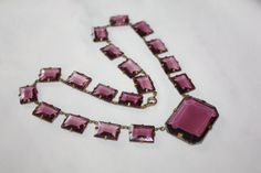 Art Deco Necklace Amethyst Crystal  Vintage Antique by patwatty, $165.00