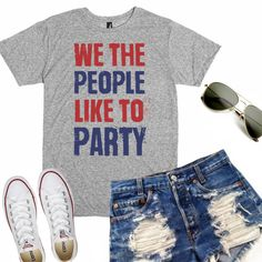 4th of July Tank  Fourth of July Tee  We by TheCustomStudioShop
