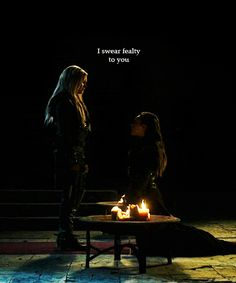 I swear fealty to you ... #the100