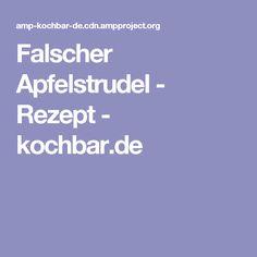 Falscher Apfelstrudel - Rezept - kochbar.de