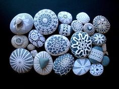 Margaret Oomen's Little Urchin Crochet Covered Sea Stones