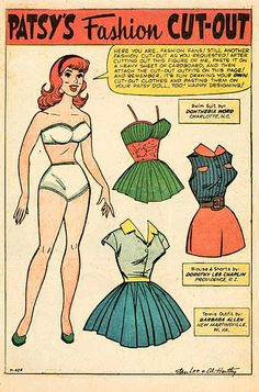 (⑅ ॣ•͈ᴗ•͈ ॣ)♡                                                             ✄Paper Doll Marvel Comics, 1960s - papercat - Picasa Albums Web