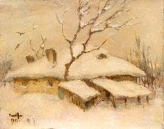 Paintings of Spring: Nicolae Tonitza aprilie 1886 - 26 februarie pictor român Social Art, Winter Art, Romania, Painting & Drawing, Mystic, Art Gallery, Arts And Crafts, Art Prints, Drawings