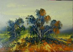 Beautiful autumn landscape from Romania, the original painting by Voineagu Ion Impressionism, Romania, Original Paintings, Art Gallery, Autumn, Landscape, The Originals, Canvas, Ebay