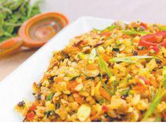Eat dinner like Miranda Kerr: Quinoa pilaf with coconut, raisins and lime.