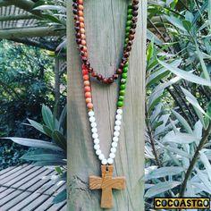 CocoaStgo....COLLAR CUENTAS Y CRUZ EN PIEDRA NATURAL....Diseño Exclusivo CocoaStgo....✌ #hippie #hippiestyle #gypsystyle #gypsy #latrapa #latrapatienda #bohemianstyle #cocoastgo #santiagodechile