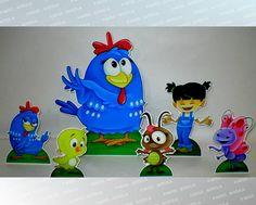 Kit 06 Display Galinha Pintadinha | PAINEL ÂNGELA ÁLVARES | 3433EB - Elo7
