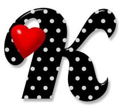 The Letter K. Black and white polka dots. Cute Letters, Fancy Letters, Picture Letters, Letter Art, Letter Logo, Dyi Flowers, Cute Birthday Gift, Creative Lettering, Alphabet And Numbers