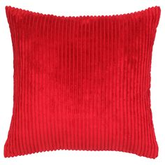 George Home Red Soft Jumbo Cord Cushion - 50x50cm | Cushions & Throws | ASDA direct