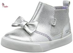 Kickers  Tovni Chella, Chaussons montants fille - argent - Silver (Metallic), 41 EU - Chaussures kickers (*Partner-Link)