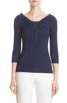 Main Image - Michael Kors Twist Neck Stretch Jersey Top