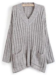 Shop Grey Sweet Heart Neck Pockets Loose Sweater online. Sheinside offers Grey Sweet Heart Neck Pockets Loose Sweater & more to fit your fashionable needs. Free Shipping Worldwide!
