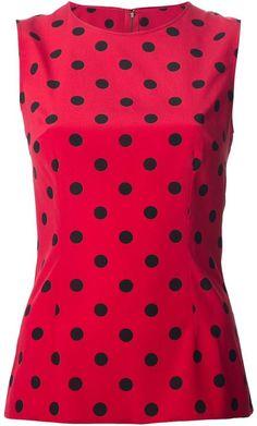 Dolce & Gabbana polka dot tank top on shopstyle.co.uk