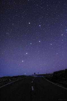 """A Road to Big Dipper"";  photo by astrophotographer Miguel Claro of the famed Big Dipper star pattern, part of the iconic bear constellation Ursa Major, as it pours starlight over a stargazer on the La Palma road to Roque de Los Muchachos in Spain's Canary Islands."