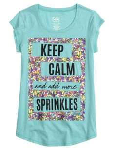 Sprinkles Graphic Long Tee | Girls Graphic Tees Clothes | Shop Justice