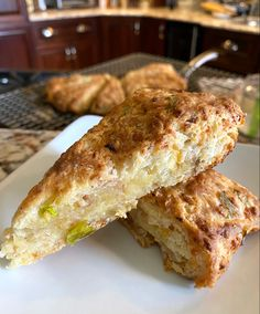 Cheese Scones, Ham And Cheese, French Toast, Cooking, Breakfast, Food, Kitchen, Morning Coffee, Kochen