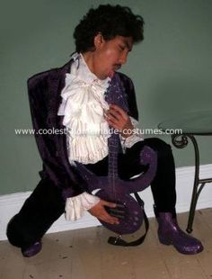 (The artist formerly known as) Prince Costume I grabbed a ladyu0027s suit from what mustu0027ve been the 80s a curtain a button-down shirt and some rubber boots ...  sc 1 st  Pinterest & singer prince costume - Google Search u2026 | P . R . u2026