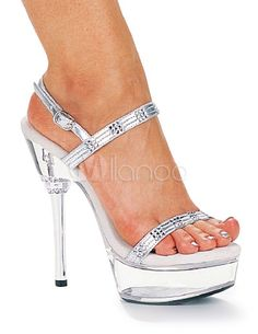 Sandalias de PU con diamante de imitación - Milanoo.com