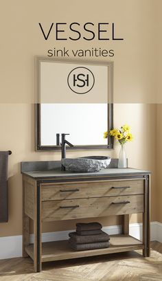 Mix and match your favorite styles by pairing a beautiful vessel sink with a premium vanity. Signature Hardware has thousands of combinations to help you create the perfect look.
