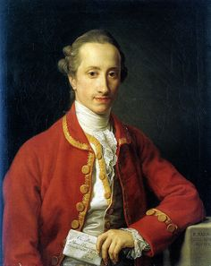 1777 Portrait of François de Chambrier by Pompeo Batoni. London, Moretti Fine Arts