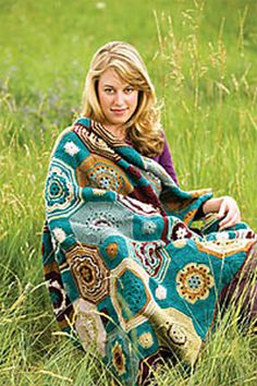 Ravelry: Moorish Mosaic Afghan pattern by Lisa Naskrent