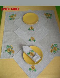 linen table