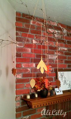 DIY Fall Harvest Crafts DIY Harvest Crafts : DIY Fall Branch Paint-chip Mobile
