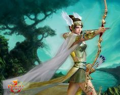 Fantasy Female Elves | perfect, winged elf archer, anime, female ...