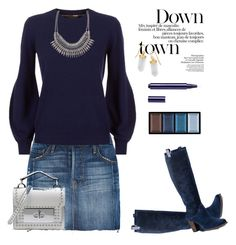 """""""Wrapped up in blue!"""" by marialibra ❤ liked on Polyvore featuring Frame, UGG, Burberry, ALDO, BillyTheTree, Marc Jacobs, Clé de Peau Beauté and By Terry"""