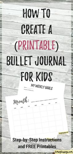 How to Create a DIY Bullet Journal for Kids Using Printables. It's still theirs to be creative with, but you don't have to stress. Click through to get the how-to and FREE printables! prompts for kids Bullet Journal For Kids, Creating A Bullet Journal, Bullet Journal Printables, Journal Template, Bullet Journal Layout, Bullet Journals, Journal Prompts, Journal Pages, Journal Ideas