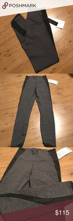 NWT lululemon leggings Brand new leggings sz 6 high rise 7/8 crop grey and black with mesh detail lululemon athletica Pants Ankle & Cropped