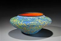 Colin Heaney Tropical Pod Art Glass