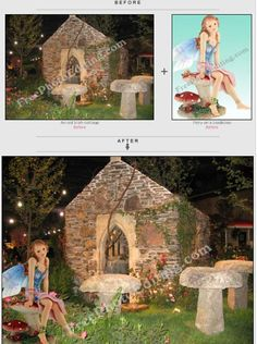 A fairy has been merged into the photo of a beautiful Irish cottage by night.  http://www.freephotoediting.com/samples/add-to-remove-from-group/022_add-fairy-to-magical-cottage-photo.htm